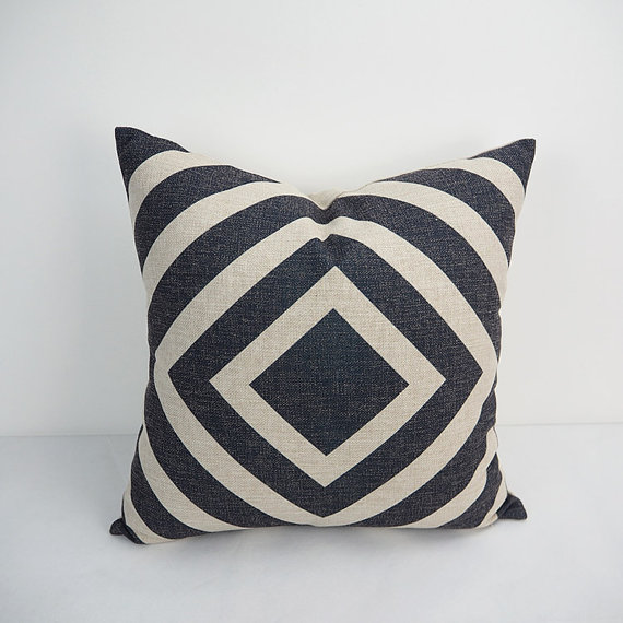 Black And White Square Decorative Pillow Covers